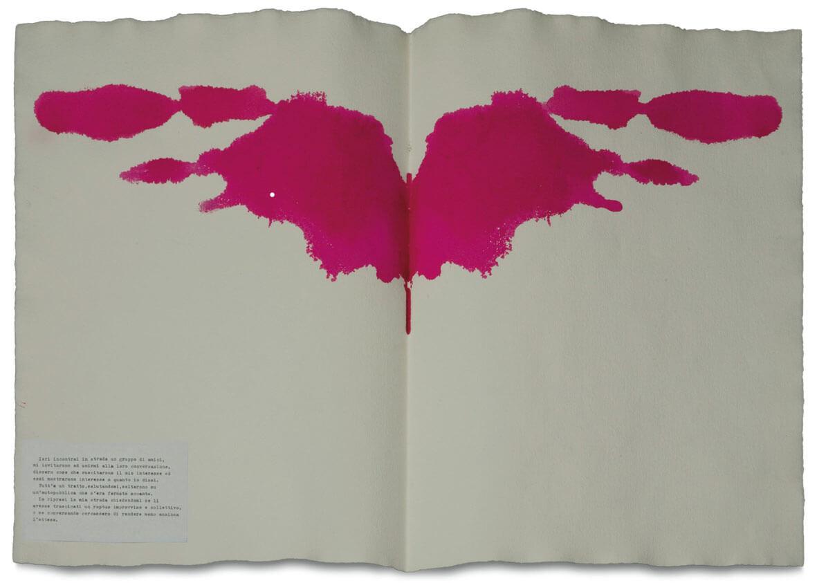 Macchie di Rorschach 1 (Ieri incontrai un gruppo di amici..) 1976 FABRO GR