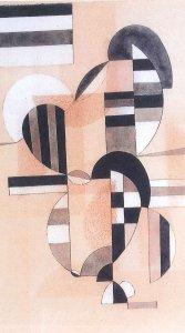 Vassilij Kandinskij Wechselstreifen, 1933 acquerello su carta, 33,5 x 24 cm