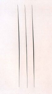 Lucio Fontana Concetto spaziale, Attese, 1966 acrilico su tela 80,3 x 64,2 cm