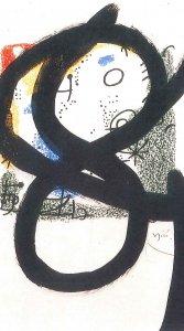 Joan Mirò Les essences de la terre, 1969 carboncino su prova litografica, 50 x 36 cm