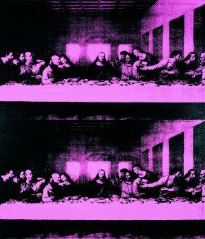 Andy Warhol Ultima cena. Doppia imagine, 1986 acrilico su tela 100 x 100 cm