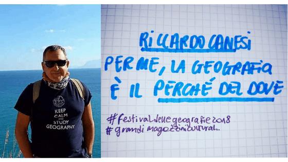 """RICCARDO CANESI <br>""""UN SOS PER LA GEOGRAFIA"""""""