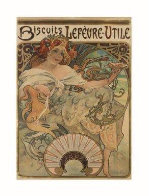 Biscuits / Lefèvre-Utile, 1896 Litografia a colori, cm 62 × 43,5 Richard Fuxa Foundation Foto: © Richard Fuxa Foundation