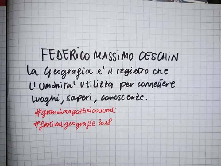"""FEDERICO MASSIMO CESCHIN<br> """"LA GEOGRAFIA SIAMO NOI"""""""