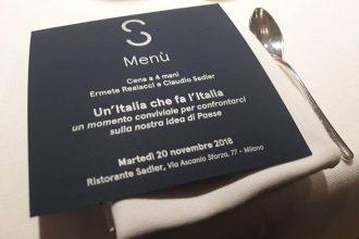 una cena insieme all'Italia <br>che vuole fare l'Italia