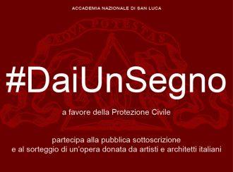 #Daiunsegno, artisti per la Protezione Civile