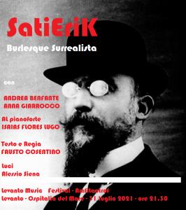 Levanto Music Festival - Amfiteatrof. Il burlesque surrealista di Erik Satie